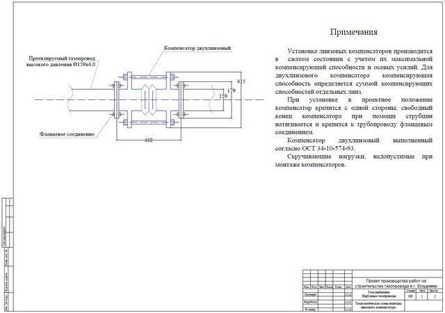 Газовая промышленность Рефераты курсовые и дипломные работы  Проект производства работ на строительство газопровода